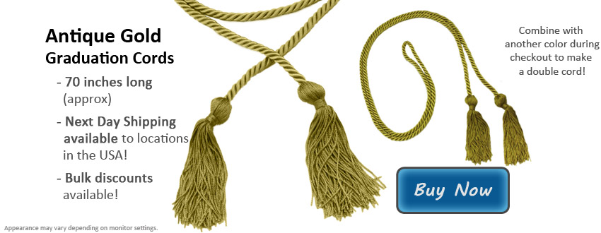 Antique Gold Graduation Cord Picture