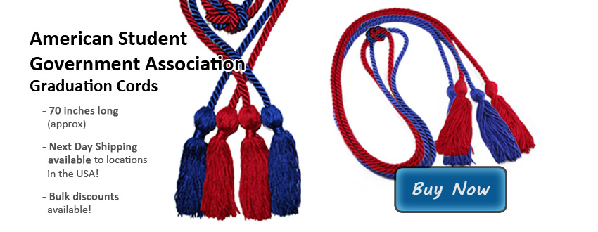Asga Graduation Cords American Student Government Association Cords