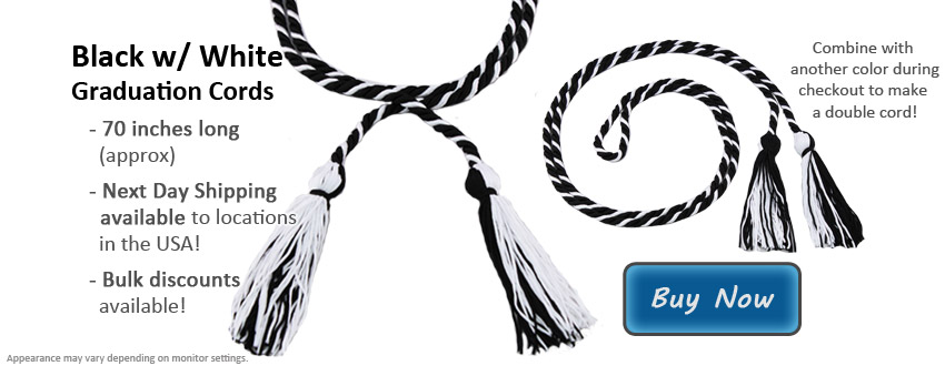 Black and White Graduation Cord Picture