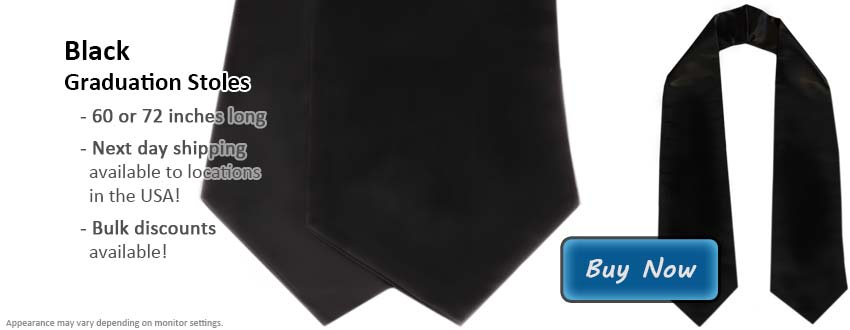 Black Graduation Stole Picture