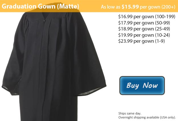 Matte Black Graduation Gown Picture