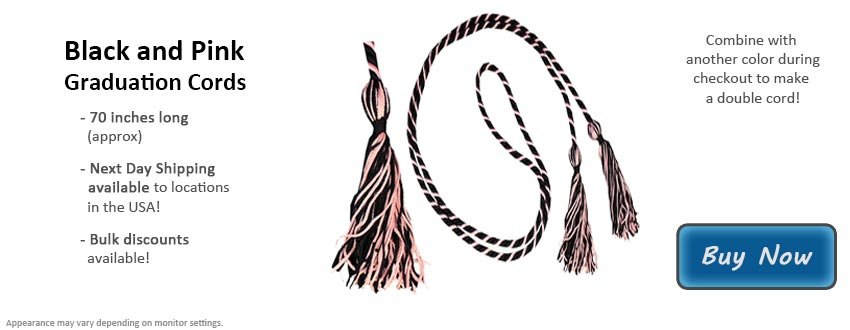 Black and Pink Graduation Cord Picture