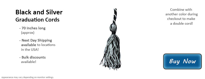 Black and Silver Graduation Cord Picture