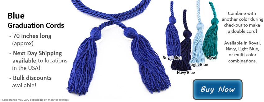 Blue Graduation Cord Picture
