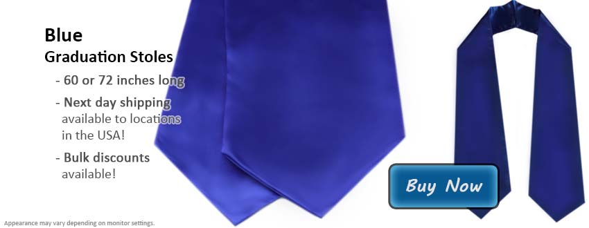 Royal Blue Graduation Stole Picture