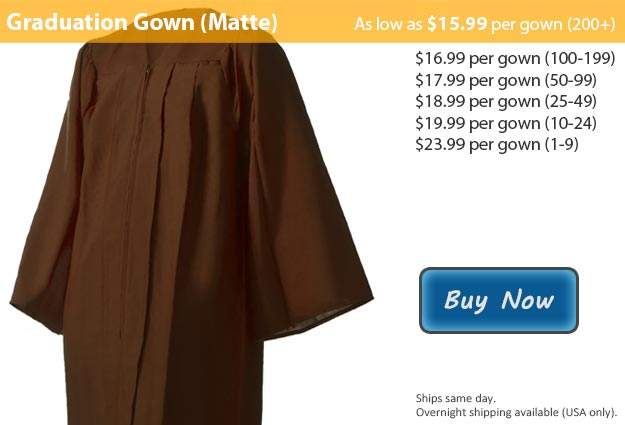 Matte Brown Graduation Gown Picture