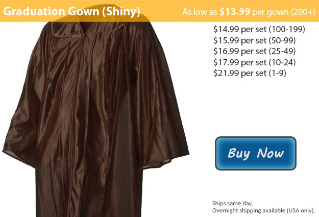 Shiny Brown Graduation Gown Picture