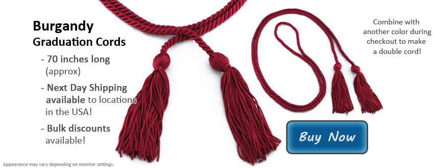 Burgundy Graduation Cord Picture