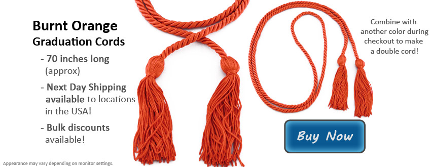 Burnt Orange Graduation Cord Picture
