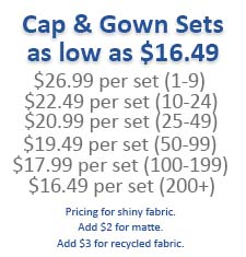Info Chart for Caps & Gowns