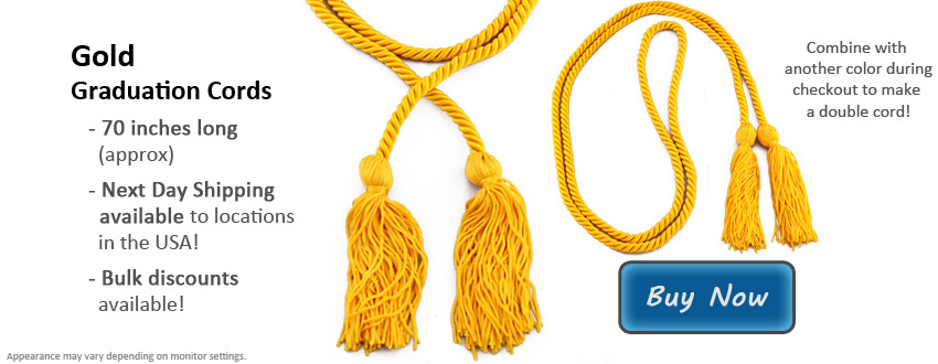 Gold Graduation Cord Picture