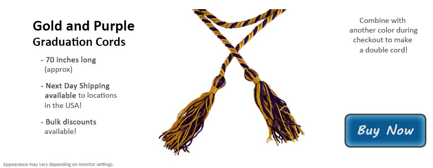 Gold and Purple Graduation Cord Picture