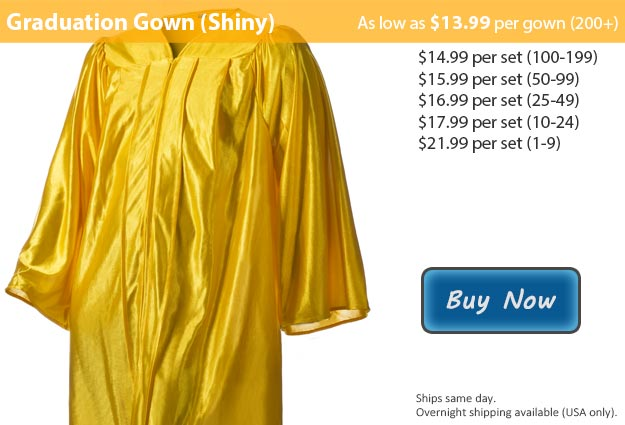 Shiny Gold Graduation Gowns From Honors Graduation