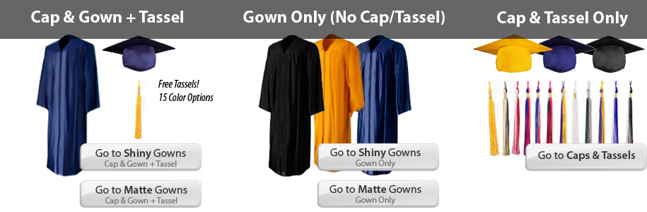 Graduation Cap & Gowns | Caps, Robes & Tassels