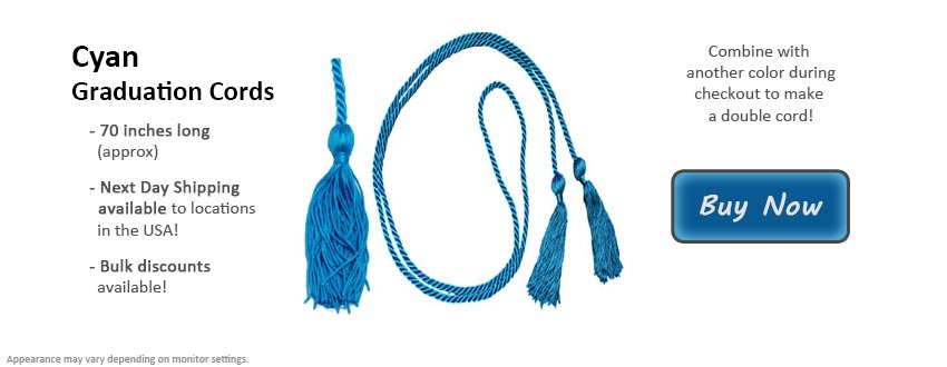 Cyan Graduation Cord Picture