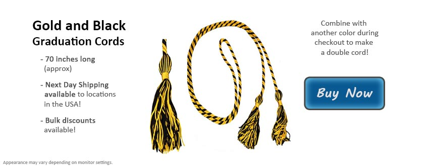 Gold and Black Graduation Cord Picture