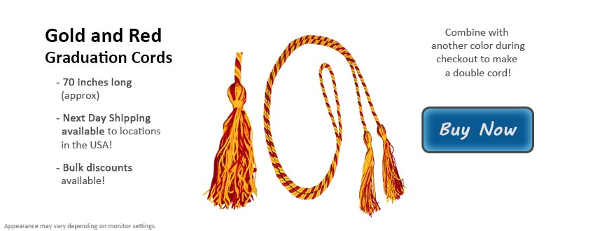 Gold and Red Graduation Cord Picture