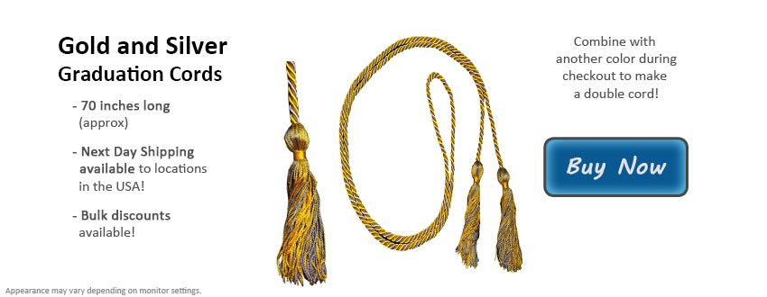 Gold and Silver Graduation Cord Picture