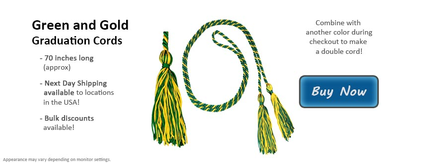 Green and Gold Graduation Cord Picture
