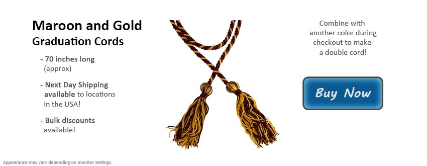 Maroon and Gold Graduation Cord Picture
