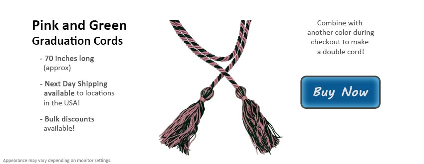 Pink and Green Graduation Cord Picture
