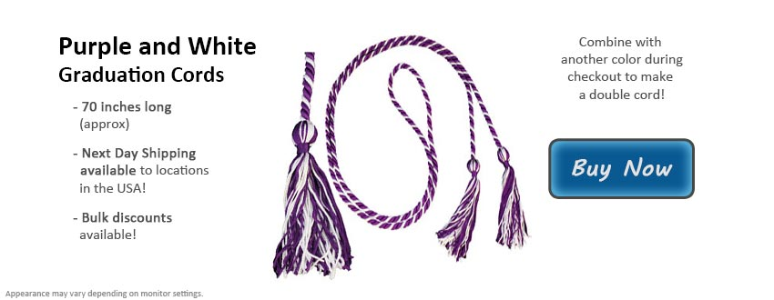 Purple and White Graduation Cord Picture