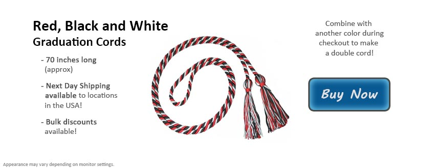 Red, Black & White Graduation Cord Picture
