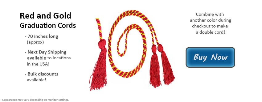 Red and Gold Graduation Cord Picture