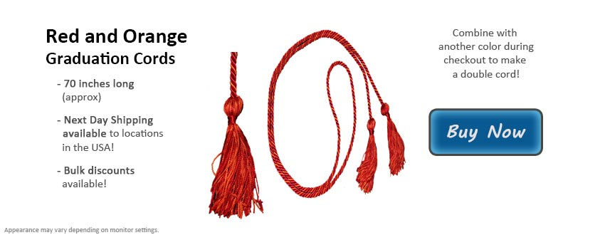 Red and Orange Graduation Cord Picture
