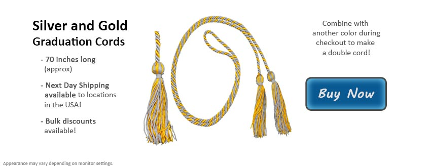 Silver and Gold Graduation Cord Picture