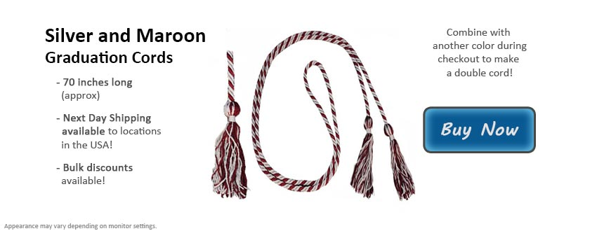 Silver and Maroon Graduation Cord Picture