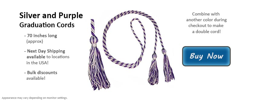 Silver and Purple Graduation Cord Picture