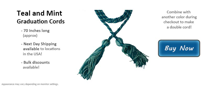 Teal and Mint Green Graduation Cord Picture