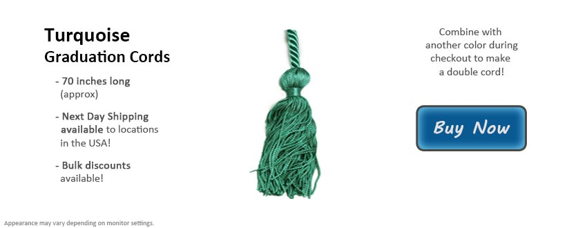 Turquoise Graduation Cord Picture