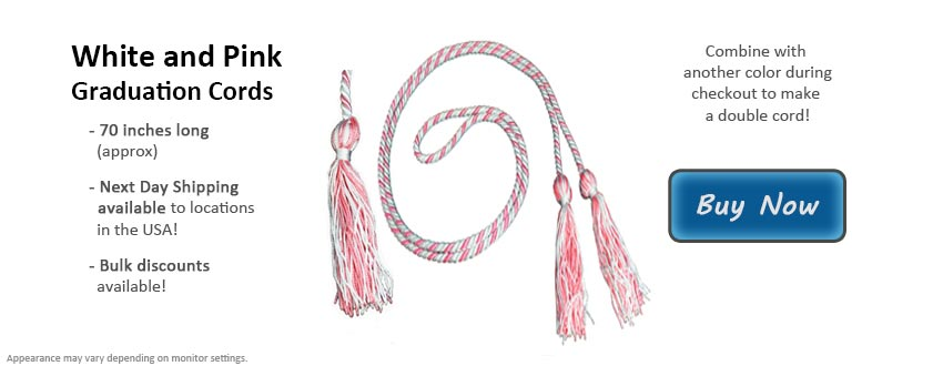 White and Pink Graduation Cord Picture