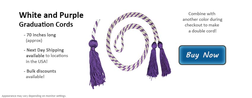 White and Purple Graduation Cord Picture