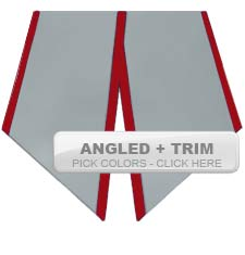 Graduation Stoles - Angled with Trim