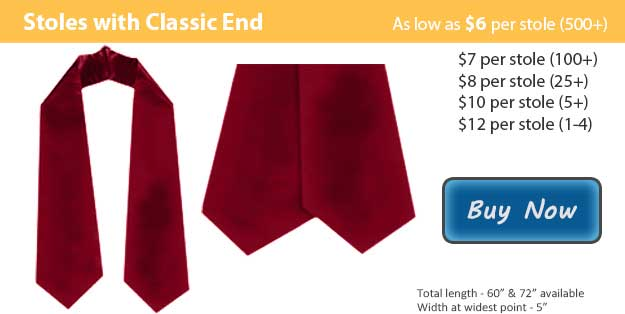 Maroon Graduation Stole Picture