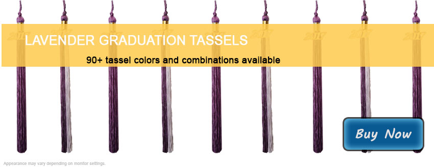 Graduation Tassels in Lavender