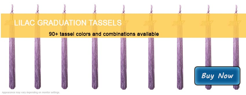 Graduation Tassels in Lilac