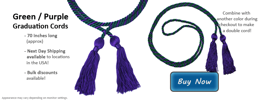 Green and Purple Graduation Cord Picture