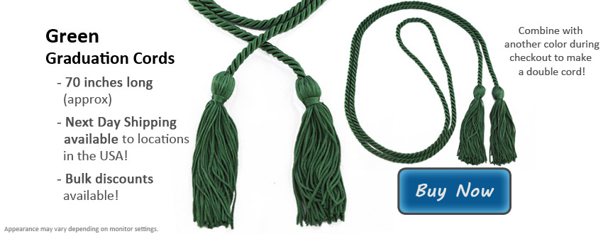 Green Graduation Cord Picture