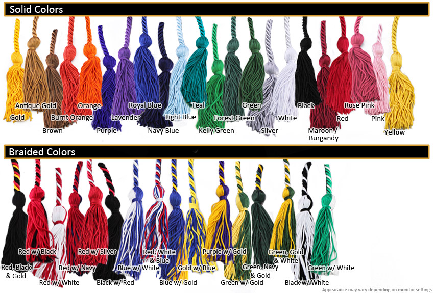 health occupation student graduation cords from honors