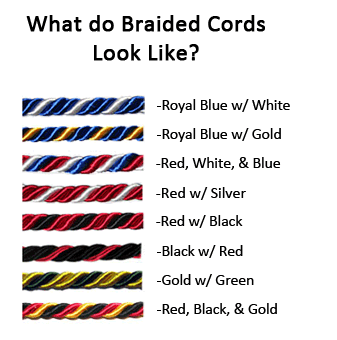 Graduation Cords Available Colors
