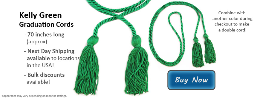 Kelly Green Graduation Cord Picture