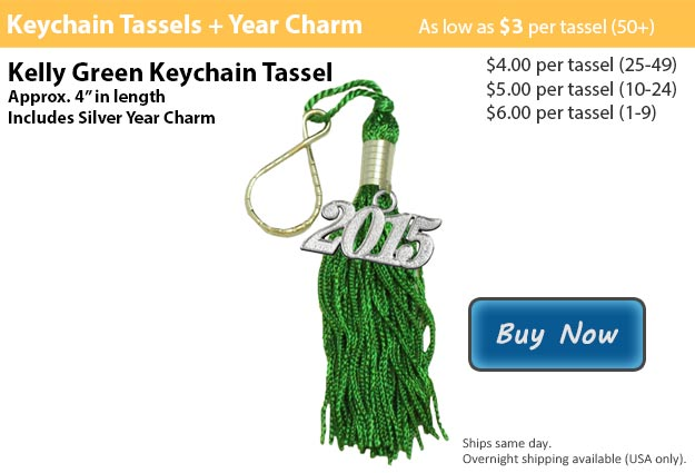 Kelly Green Keychain Tassel Picture