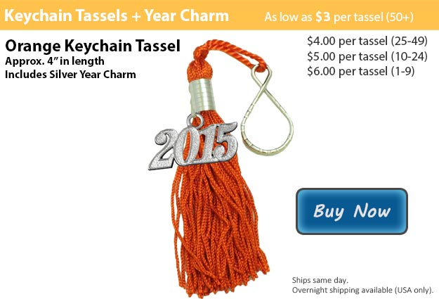 Orange Keychain Tassel Picture