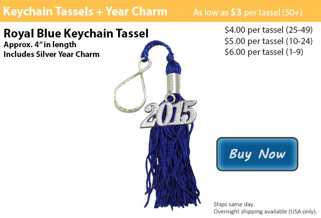Royal Blue Keychain Tassel Picture