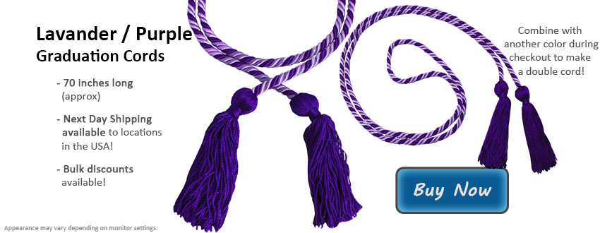 Lavender and Purple Graduation Cord Picture