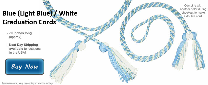 Light Blue Graduation Cord Picture